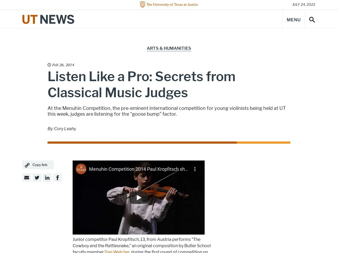Listen Like a Pro: Secrets from Classical Music Judges Â« Know