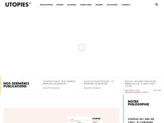 Capture d'écran pour utopies.fr