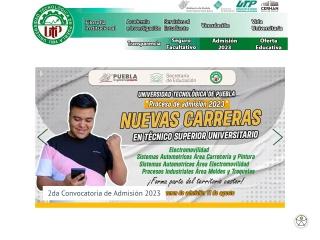 Captura de pantalla para utpuebla.edu.mx