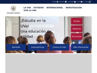 Captura de pantalla para uva.es