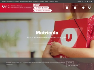 Captura de pantalla para uvic.es