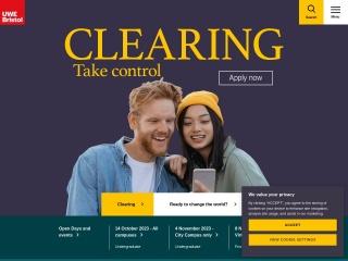 Screenshot for uwe.ac.uk