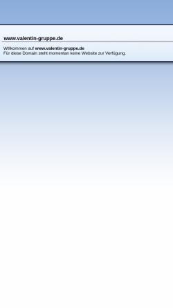 Vorschau der mobilen Webseite www.valentin-gruppe.de, Valentin Gas und Öl GmbH & Co.
