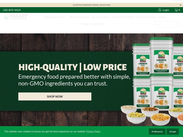 Valley Food Storage screenshot