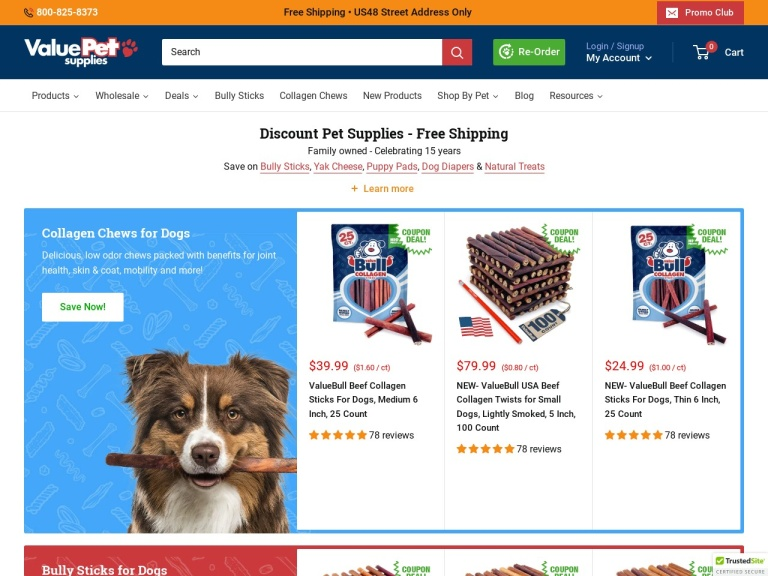 ValuePetSupplies.com screenshot