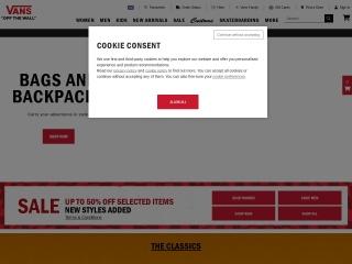 Screenshot for vans.co.uk