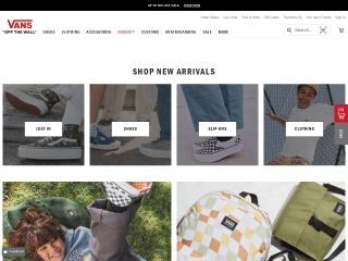Capture d'écran pour vans.com
