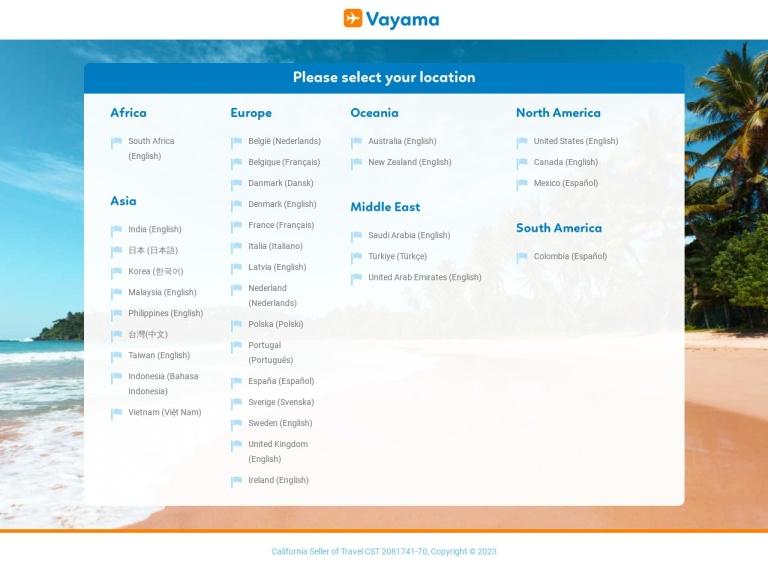 Vayama – International Travel Solved screenshot