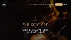 www.vedis.berlin Vorschau, Vedis Indisches Restaurant