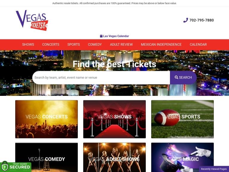 Vegas Tickets screenshot
