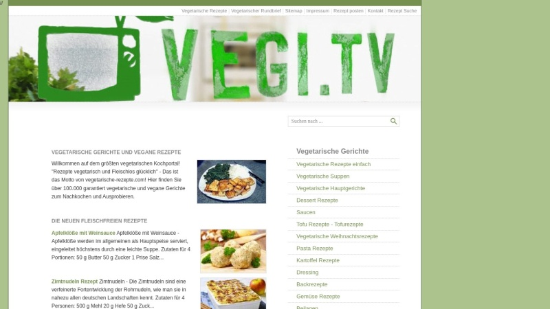 www.vegetarische-rezepte.com Vorschau, Vegetarische Rezepte & vegane Kochideen
