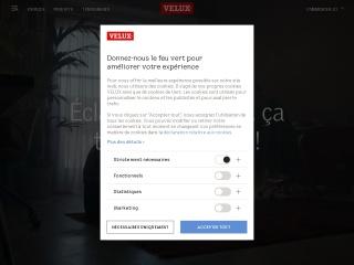 Capture d'écran pour velux.fr