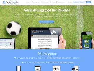 Screenshot der Website verein-web.ch