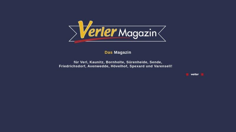 www.verler-magazin.de Vorschau, Verler Magazin