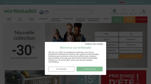 Code reduction Vertbaudet Belgique sur votre Cadeau offert
