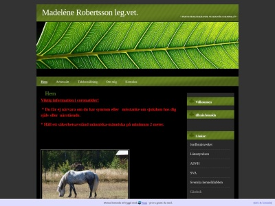 www.veterinarmadelenerobertsson.n.nu