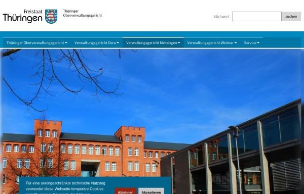 Vorschau von www.vgme.thueringen.de, Verwaltungsgericht Meiningen