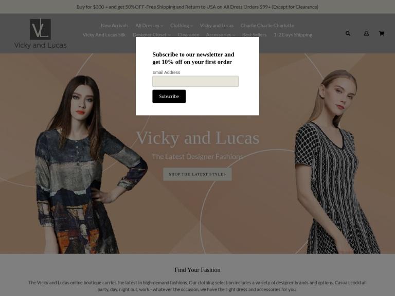 Vicky & Lucas Inc. screenshot