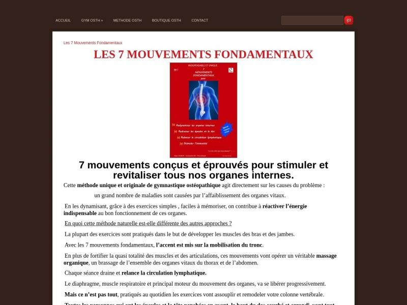 les 7 mouvements fondamentaux