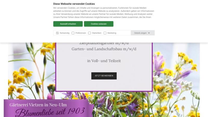 www.vietzen.de Vorschau, Vietzen Blumen und Pflanzen