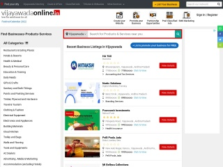 Screenshot for vijayawadaonline.in