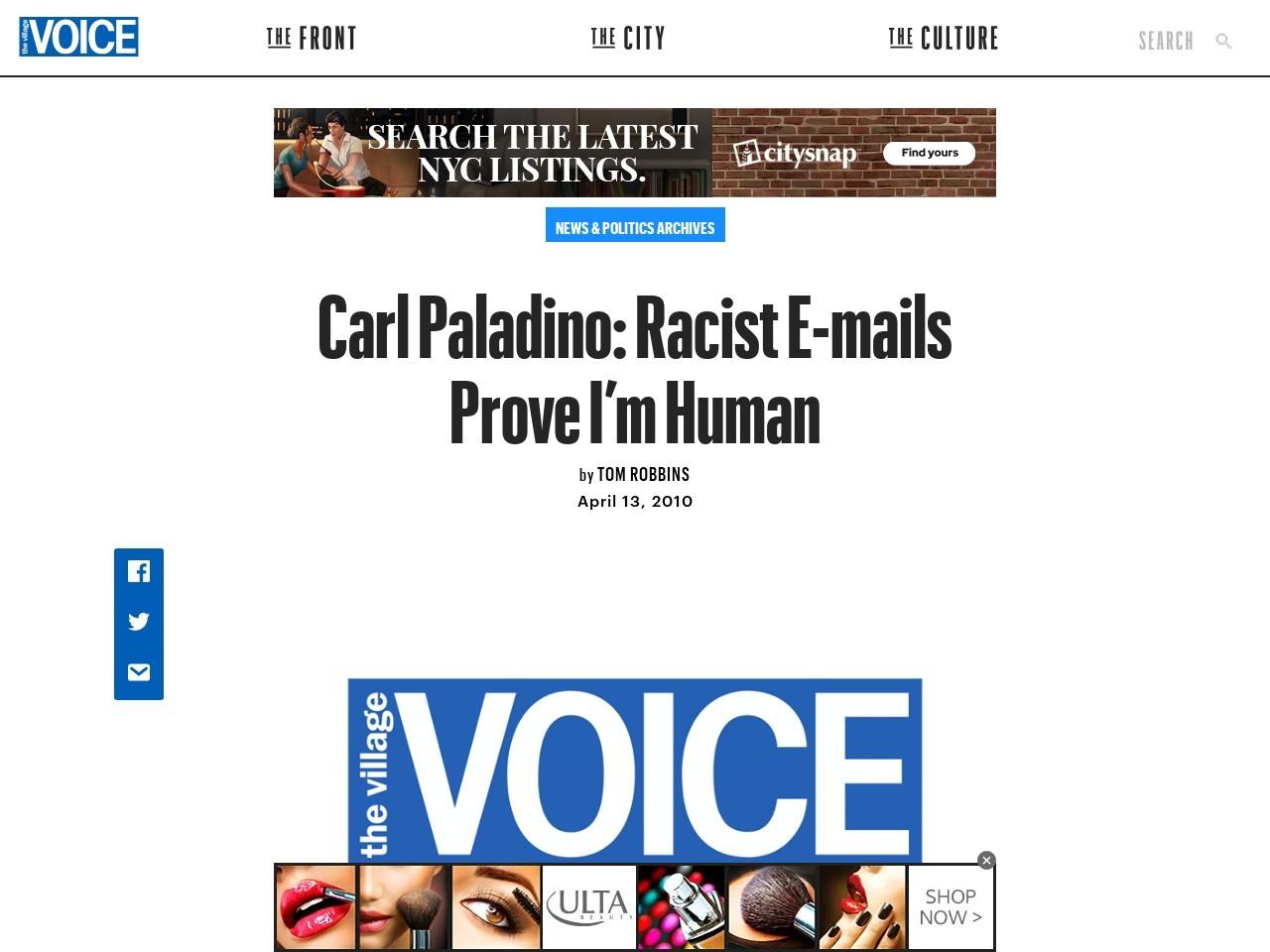 Carl Paladino: Racist E-mails Prove I'm Human