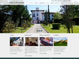 screenshot villalafornacina.it