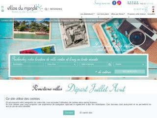 Capture d'écran pour villasdumonde.fr