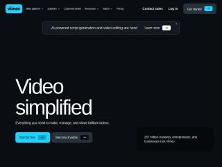 Foto ekrani për vimeo.com