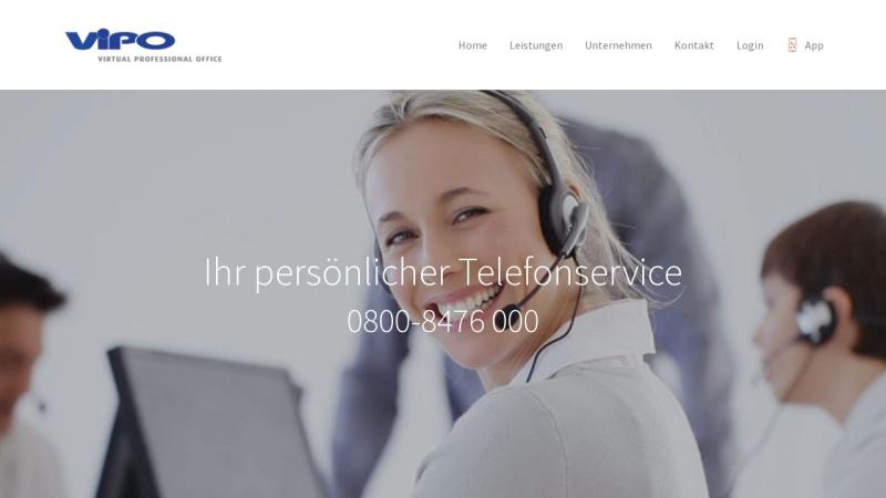 www.vipo-deutschland.de Vorschau, ViPO Deutschland GmbH, Virtual Professional Office
