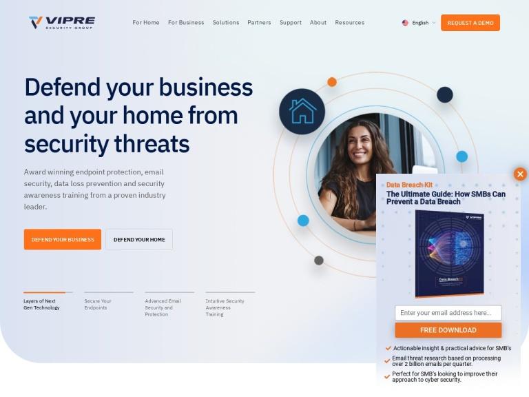 Vipre Antivirus screenshot