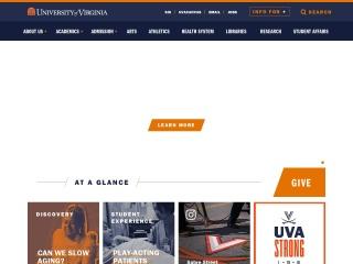 Screenshot for virginia.edu