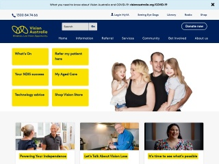 Screenshot for visionaustralia.org