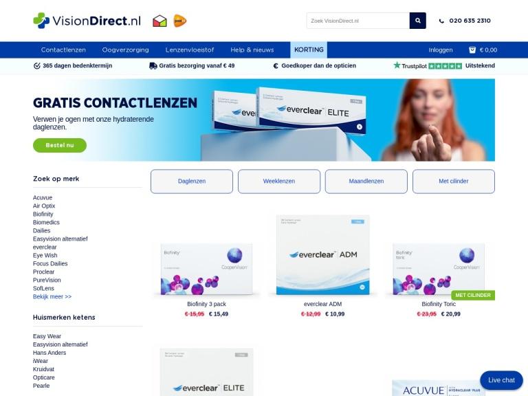 VisionDirect.nl screenshot
