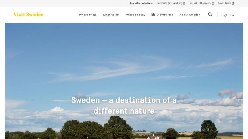 www.visitsweden.com Vorschau, VisitSweden