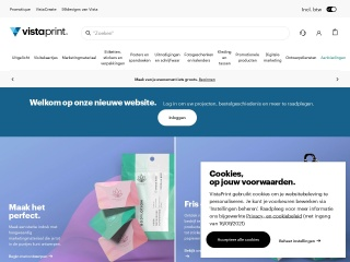 Screenshot voor vistaprint.nl