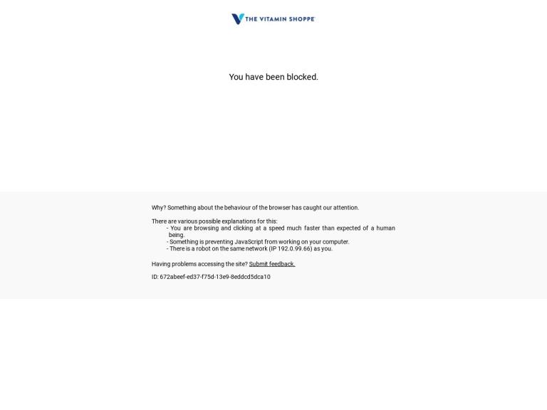 Vitamin Shoppe screenshot