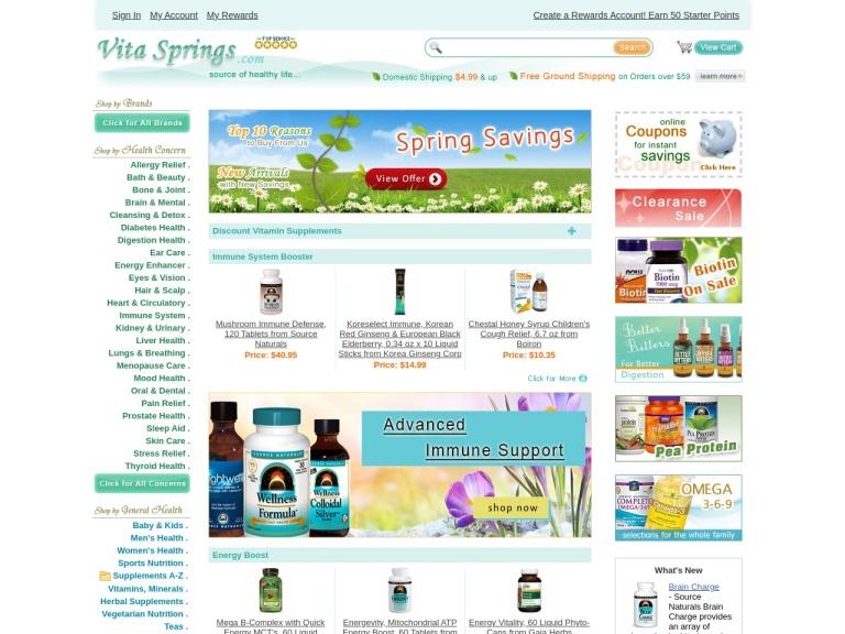 VitaSprings.com screenshot