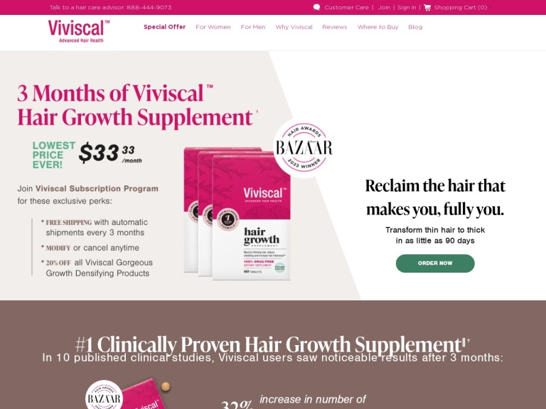 Viviscal Hair Growth And Hair Care Program screenshot