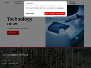 Screenshot for vodafone.com