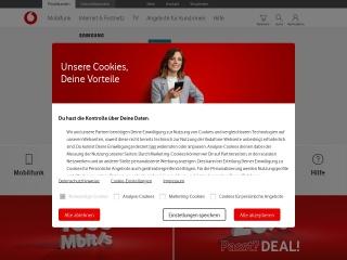 Screenshot der Website vodafone.de