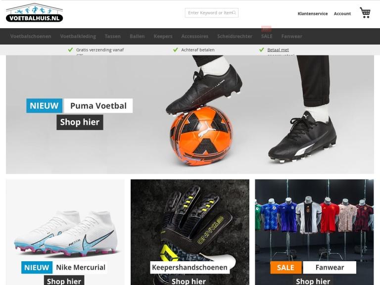 Voetbalhuis.nl screenshot