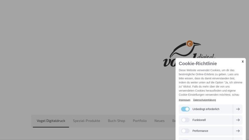 www.vogel-digitaldruck.de Vorschau, Martin Vogel Digitaldruck und Druck-Weiterverarbeitung