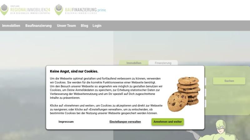 www.vogtlandimmobilien24.de Vorschau, Vogtlandimmobilien24