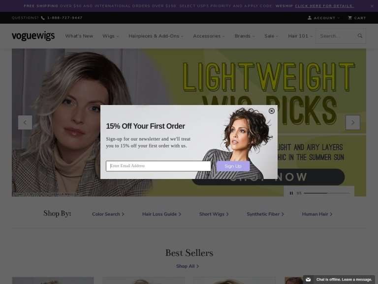 Voguewigs.com Coupon Codes