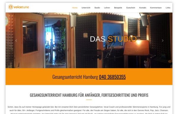 Vorschau von www.voicetune.de, Voicetune.de - privater Gesangsunterricht in Hamburg