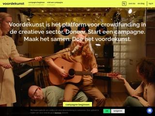 Screenshot voor voordekunst.nl