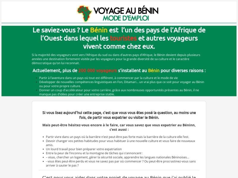 voyage au benin: mode d'emploi