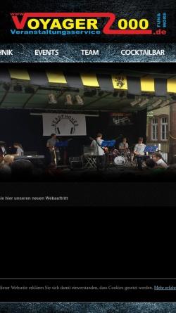 Vorschau der mobilen Webseite www.voyager2000.de, Mobil Disco und DJs Südspessart