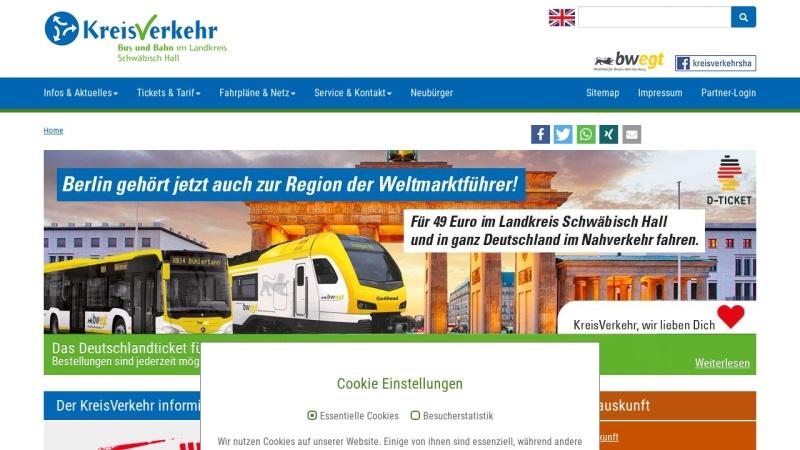 www.vsh-sha.de Vorschau, VSH Bus und Bahn im Landkreis Schwäbisch Hall